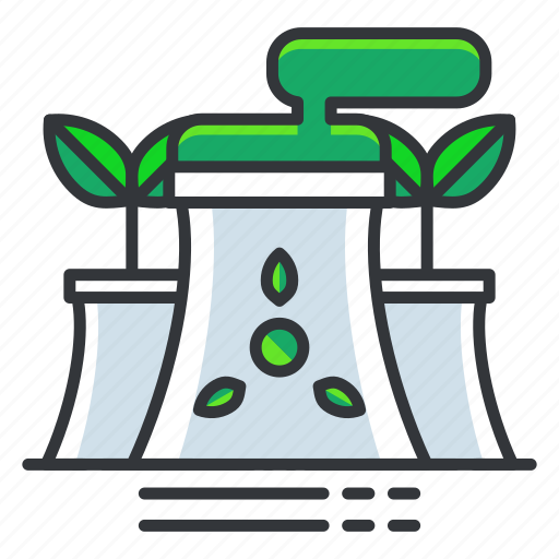 ecology, green, nuclear, power icon
