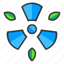 ecology, nuclear, power icon