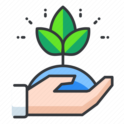care, ecology, plant icon