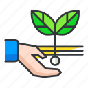 ecology, plant, planting, sprout icon