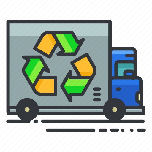 ecology, recycle, truck icon