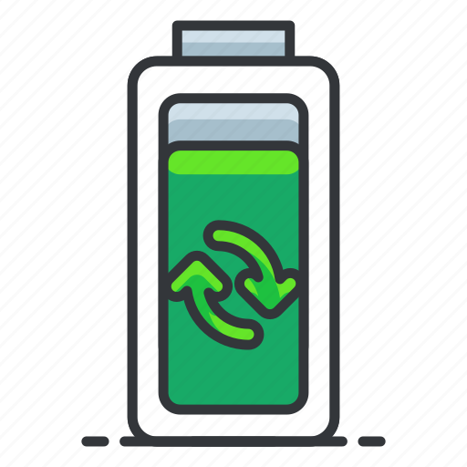 battery, ecology, reuse icon