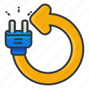 ecology, electricity, reuse icon