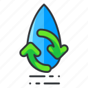 ecology, reuse, water icon