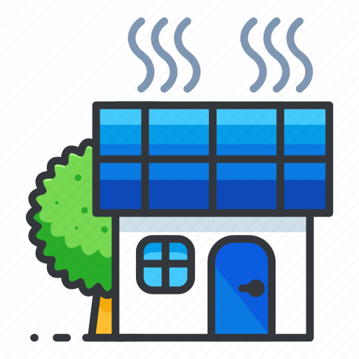 ecology, home, power, solar icon