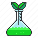 ecology, test, tube icon