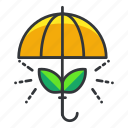 ecology, protection, umbrella icon