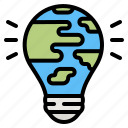 ecology, earth, light, global, bulb
