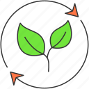 eco, environment, green, leaves, nature, plant, recycle icon