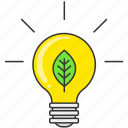 bulb, eco, environment, green, idea, lamp, nature icon