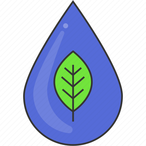 drop, eco, environment, green, leaf, nature, water icon
