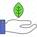 eco, green, leaf, nature, organic, plant, protection icon