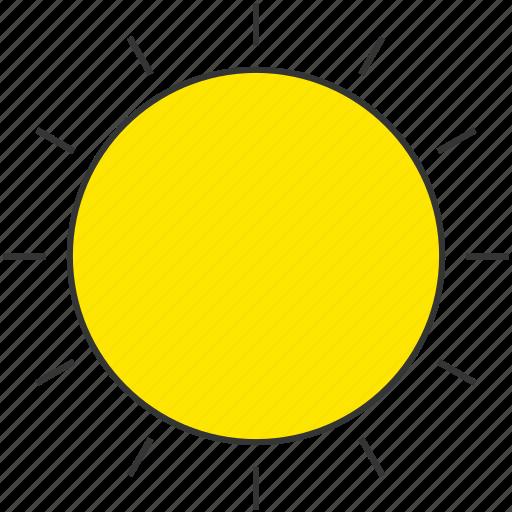 clear, eco, solar energy, sun, sunny, weather icon