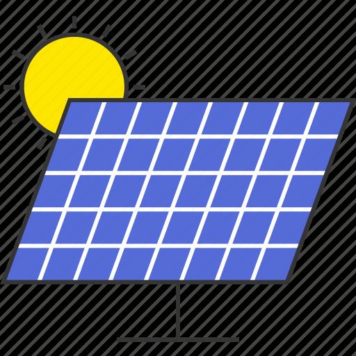 eco, electricity, power, solar energy, solar panel, sun icon