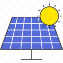 eco, electricity, power, solar energy, solar panel, sun icon