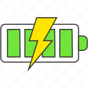battery, charge, electricity, energy, full, power icon
