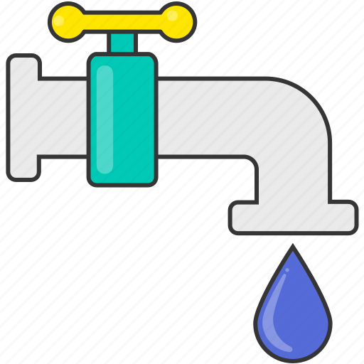 amenities, drop, sink, water, water supply icon