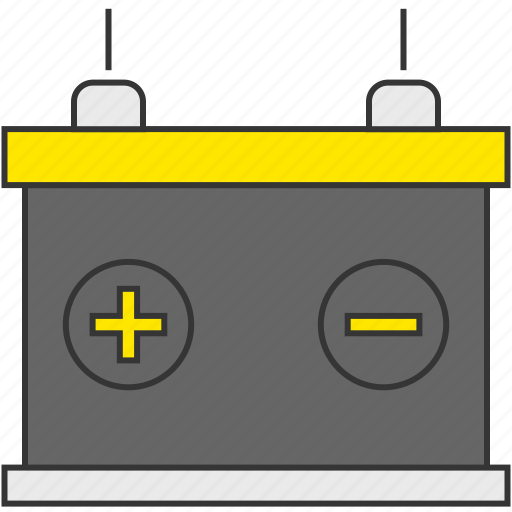 battery, car, charge, electricity, energy, power icon