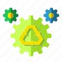 concept, environment, process, processing, recycling icon