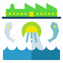 industry, pollution, system, wastewater, water icon