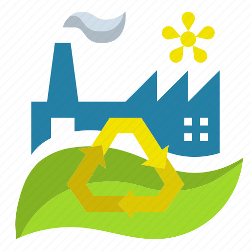 Concept, ecology, factory, green, industry icon