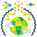 earth, effect, global, greenhouse, warming icon