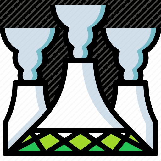 atomic, danger, energy, nuclear, smoke icon