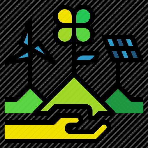 energy, power, renewable, solar, technology icon