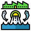 water, industry, pollution, wastewater, system icon