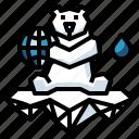 polar, arctic, wildlife, bear, animal icon