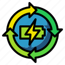 battery, rechargable, charge, electric, recharge icon