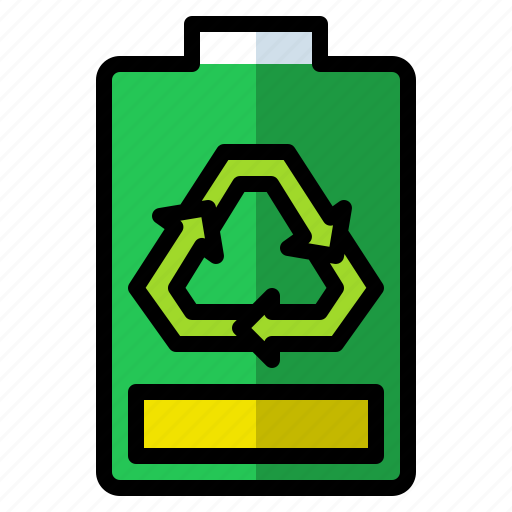 alkaline, battery, environment, green, recycle icon