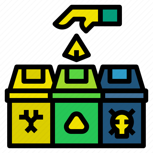 bin, ecology, garbage, recycle, waste icon