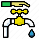 eco, concept, drop, save, water icon