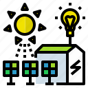 electricity, energy, farm, renewable, solar icon