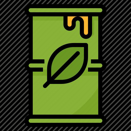 bio, drum, energy, fuel, gallon, gas, green icon