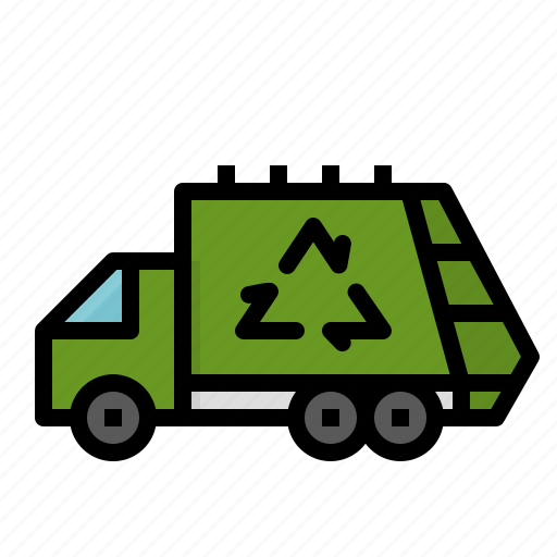 Garbage, recycle, trash, truck icon - Download on Iconfinder