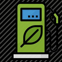 bio, energy, fuel, gas, green, station icon