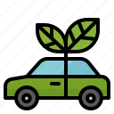 bio, car, ecology, electric, green, vehicle icon