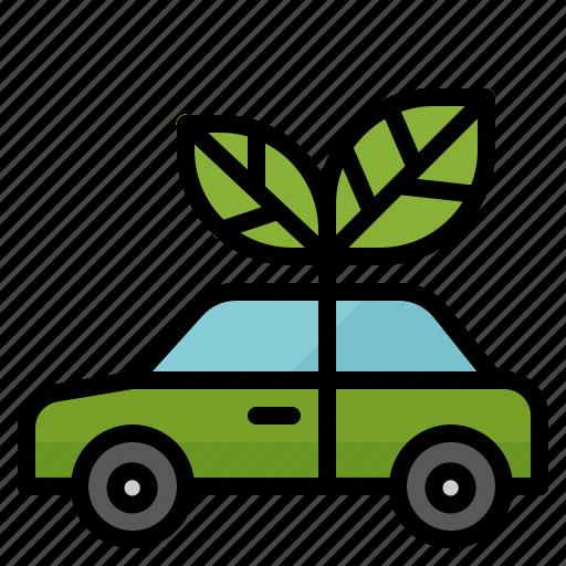 bio, car, ecology, electric, green, vehicle icon