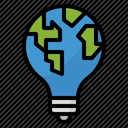 energy, lamp, light, save icon