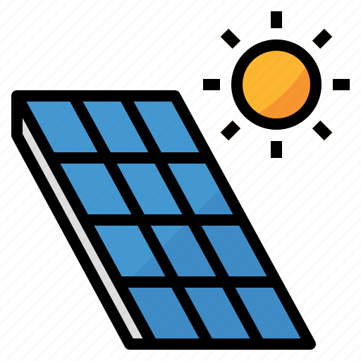 clean, energy, green, power, solar cell icon
