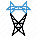 electric, energy, power, tower, transmission icon