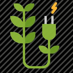 bio, electric, energy, green icon