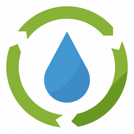 ecology, recycling, reuse, water icon
