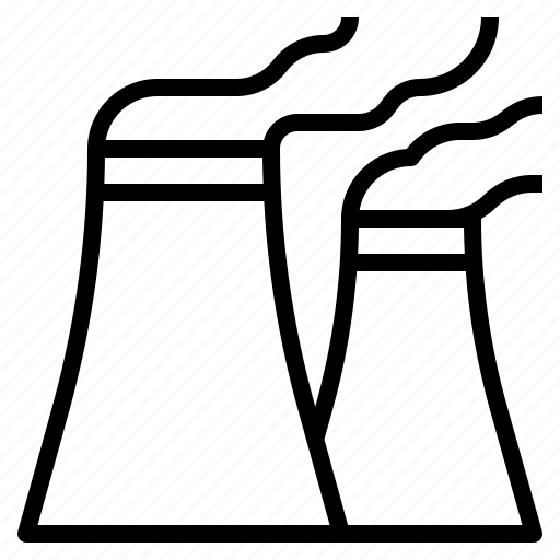 factory, industry, nuclear, power icon
