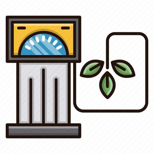 eco, ecology, environment, fuel, nature, station icon