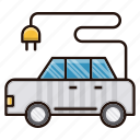 ecology, nature, car, environment, electrical, transport icon
