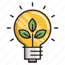 ecology, nature, idea, environment, green, think icon