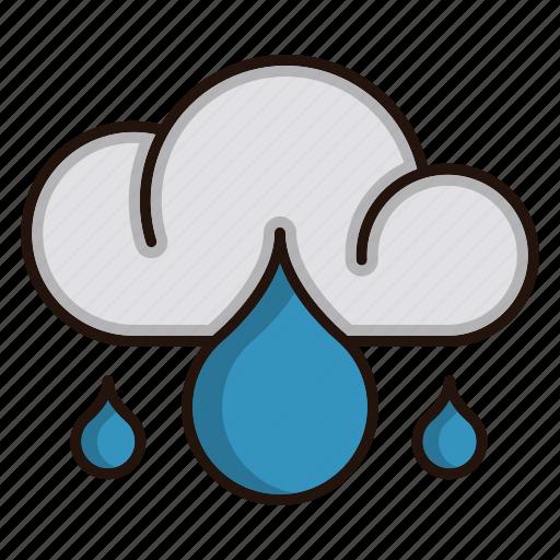 ecology, environment, nature, rainy, weather icon
